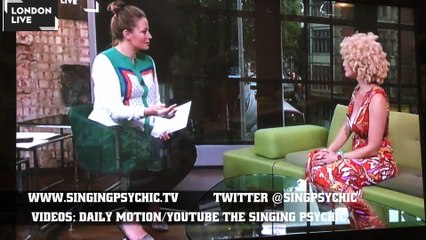 London Live TV interview Singing Psychic - live readings & all about her live Fringe shows Aug 15