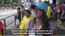 JMJ: la jeune foule ravie d'avoir aperçu le pape François