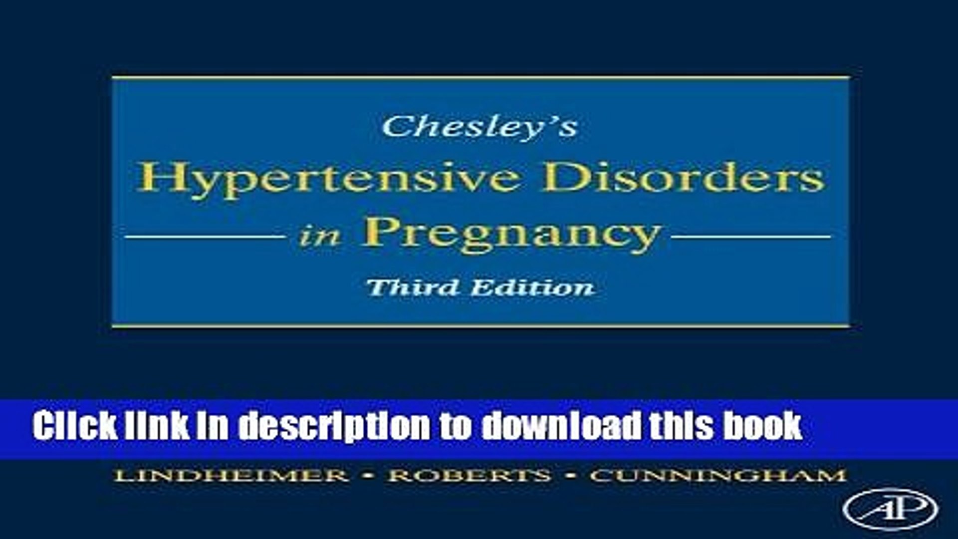 Chesleys Hypertensive Disorders in Pregnancy, 3rd Edition