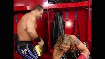 Chris Benoit and Edge backstage: Raw, April 19, 2004