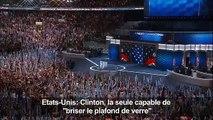 Obama: Clinton la seule capable de «briser le plafond de verre»