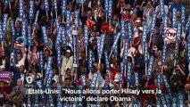 Obama: «Nous allons porter Hillary vers la victoire»