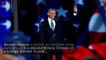Convention démocrate : Obama adoube Hillary Clinton et se paie Donald Trump
