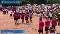 Seconde partie, second tour, M1, 1 sur 2, Sport Boules, France Quadrettes, l'Arbresle 2016