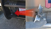 Batman wannabe arrested: Man throws batarang at cop car, strapped with homemade spear - TomoNews