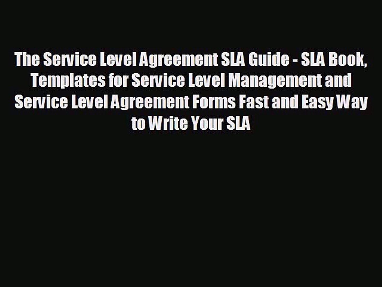 FREE PDF The Service Level Agreement SLA Guide - SLA Book Templates for  Service Level Management