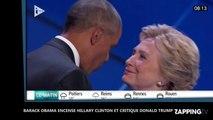 Présidentielle américaine : Barack Obama fait l'éloge d'Hillary Clinton et critique violemment Donald Trump (Vidéo)