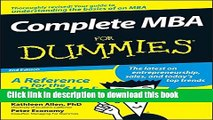 [PDF] Complete MBA For Dummies Download Online