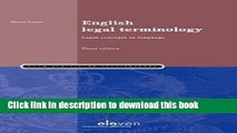 [PDF] English Legal Terminology: Legal Concepts in Language (Third Edition) [Read] Full Ebook