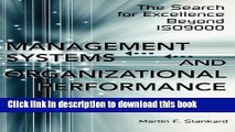 Read Books Management Systems and Organizational Performance: The Search for Excellence Beyond