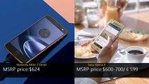 Motorola Moto Z Droid vs Sony Xperia X