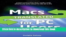 Read Macs Translated for PC Users Ebook Free