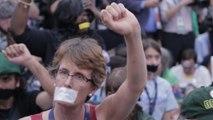 Sanders delegates walk out, protest after Democrats nominate Clinton