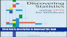 Read Discovering Statistics Using SPSS for Windows: Advanced Techniques for Beginners Ebook Free