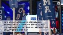 Democratic Convention: President Barack Obama passes baton to Hillary Clinton