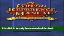 Read The Gregg Reference Manual (Gregg Reference Manual, 9th Ed)  Ebook Online