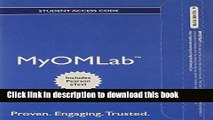 Read MyOMLab with Pearson eText -- Access Card -- for Introduction to Operations and Supply Chain