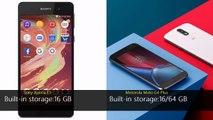 Sony Xperia E5 vs Motorola Moto G4 Plus