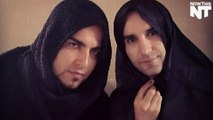 Men in Iran wear Hijab to protest the restrictive dress code for women