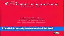 Read Carmen: Piano Duet Sheet Music Concert Suite for Two Pianos, Four Hands Ebook Free