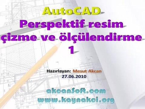 AutoCAD ile izometrik perspektif resim çizme ve ölçülendirme-1
