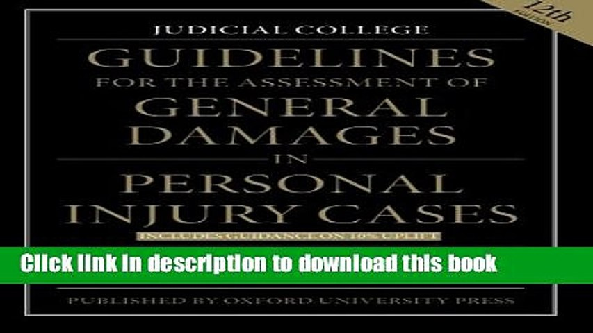 Judicial College Guidelines >> Download Guidelines For The Assessment Of General Damages In Per Ebook Free