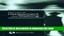Download The Law of Harassment and Stalking Ebook Online