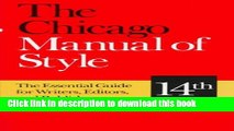 [Read PDF] The Chicago Manual of Style: The Essential Guide for Writers, Editors, and Publishers