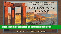 [PDF] Encyclopedic Dictionary of Roman Law (Transactions of the American Philosophical Society,