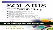Read Solaris Operating Environment Boot Camp Ebook Online