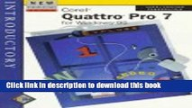 Download Corel Quattro Pro 7 for Windows 95: Introductory Ebook Free
