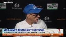 Jean-Claude Van Damme pète en plomb à la télévision australienne !