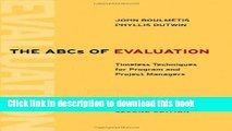 Read The ABCs of Evaluation: Timeless Techniques for Program and Project Managers  Ebook Online