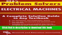Read Electrical Machines Problem Solver (Problem Solvers Solution Guides) Ebook Free