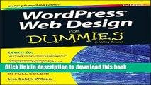 Download Books WordPress Web Design For Dummies Ebook PDF