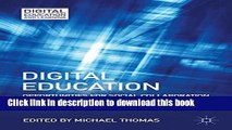 Read Books Digital Education: Opportunities for Social Collaboration (Digital Education and