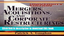 Read Books Mergers, Acquisitions, and Corporate Restructurings (Wiley Mergers and Acquisitions