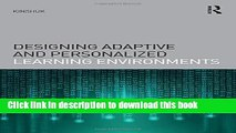 Read Books Designing Adaptive and Personalized Learning Environments (Interdisciplinary Approaches
