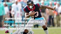 Arian Foster begins Dolphins' camp on PUP list