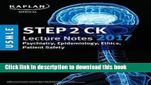 Download Book USMLE Step 2 Ck: Lecture Notes: Psychiatry and