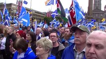 Hope over Fear Rally, Freedom Square, Glasgow 19 Sep 2015