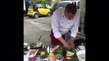 Maurizio Cooks - Smoked Trout with Aubergine Caponata
