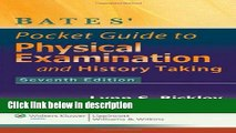 Books Bates  Pocket Guide to Physical Examination and History Taking Full Online