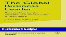 Books The Global Business Leader: Practical Advice for Success in a Transcultural Marketplace
