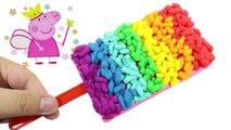 Play Doh Clay Create Wonderful Rainbow Ice Cream Along Peppa Pig Toys Create Video for Kids
