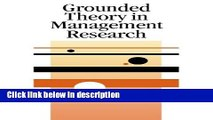 Books Grounded Theory in Management Research (SAGE series in Management Research) Full Online