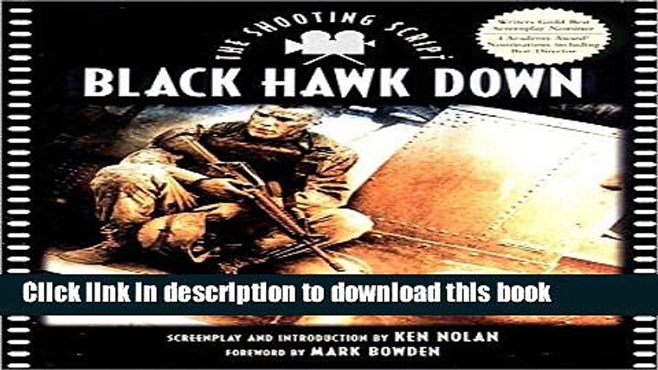 Download Black Hawk Down: The Shooting Script Online