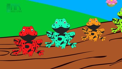 Five Little Speckled Frogs | Nursery Rhymes | Cartoon Animation Songs for Children