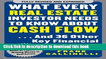 [PDF]  What Every Real Estate Investor Needs to Know About Cash Flow... And 36 Other Key Financial