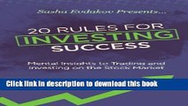 Ebook 20 Rules for Investing Success: Mental Insights to Trading and Investing on the Stock Market